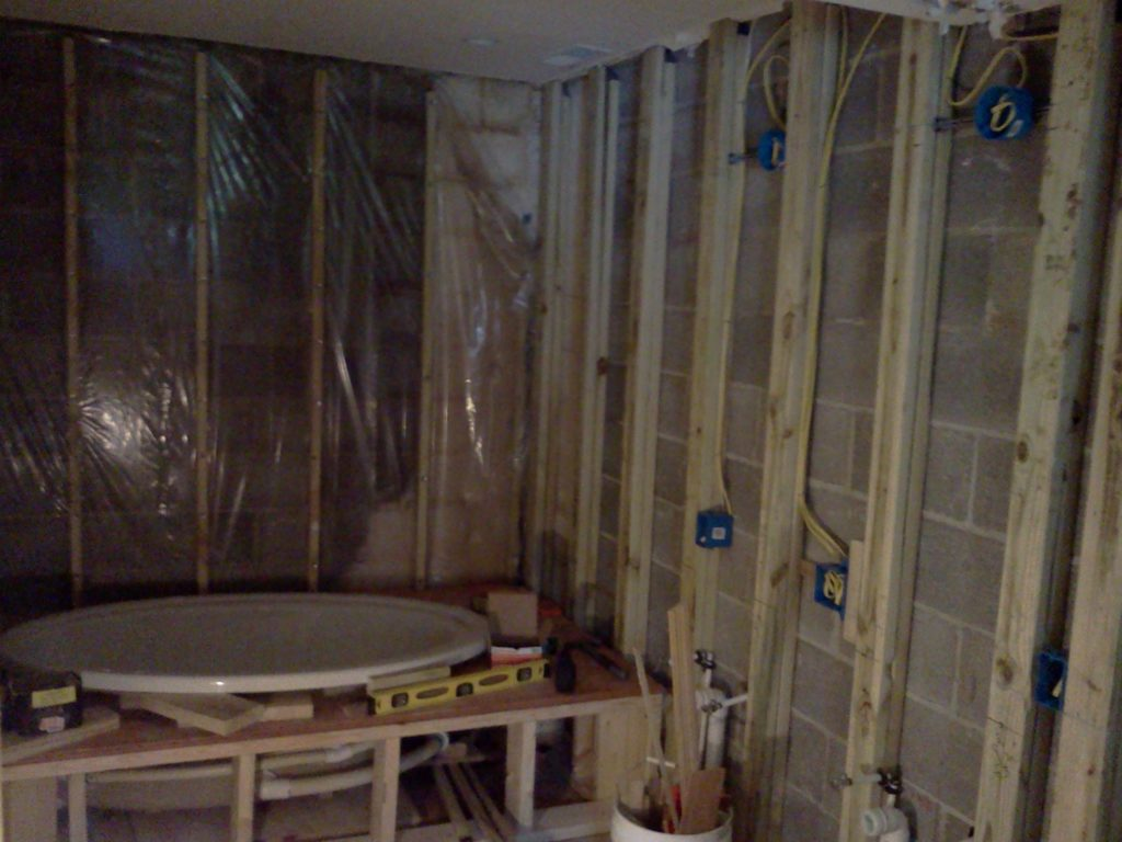 framing out a bathroom